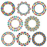 utsmyckade marockanska stil cirkel ramar vektor