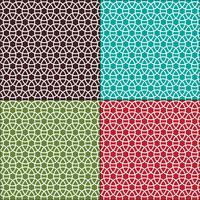 sammankopplade cirklar sömlösa geometriska mönster vektor