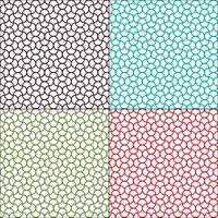 sömlösa marockanska böljande geometriska mönster vektor