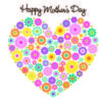 Blumenherzgraphik des glücklichen Muttertags