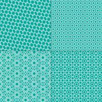 vita och turkosblå marockanska mönster vektor