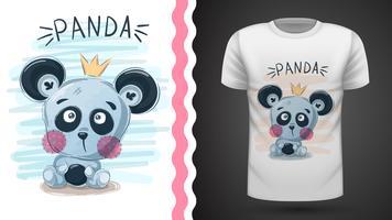 Gullig panda - idé för utskrift
