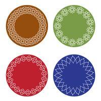 färgglada marockanska ramar vektor