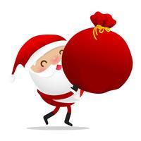Glad jul karaktär Santa claus tecknad film vektor