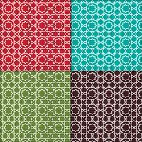 utsmyckade marockanska sömlösa kakel mönster vektor