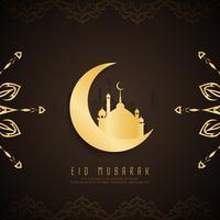 Abstraktes Eid Mubarak-Hintergrunddesign vektor