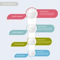 Geschäftsdaten infographic, Prozessdiagramm mit 4 Schritten, Vektor und Illustration