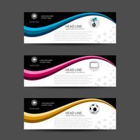 Satz von sauberen Banner-Vorlage oder Header-Webdesign für Broschüre und Flyer vektor