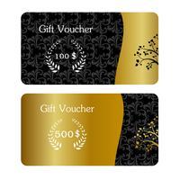 Gold und schwarze Visitenkarte vektor