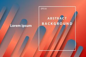 abstrakte geometrische dunkelblaue und orange Abdeckung und Tapetenhintergrund vektor