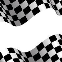 Karierte Flagge und weiße Leere entwerfen Designrennsporthintergrundvektorillustration. vektor