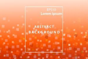 abstrakte geometrische und quadratische weiße und orange Abdeckung und Tapetenhintergrund