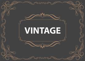 Weinlese-Verzierungs-Gruß-Karten-Vektor-Schablone und Retro- Einladungsdesignhintergrund, kann für Heirat Schnörkel-Ornamentrahmen verwendet werden. A4-Designseite