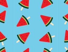Skiva vattenmelon sömlös bakgrund. vektor