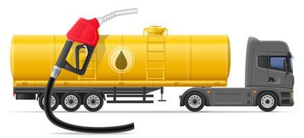LKW-Anhänger und Transport von Treibstoff für Transportkonzept-Vektorillustration