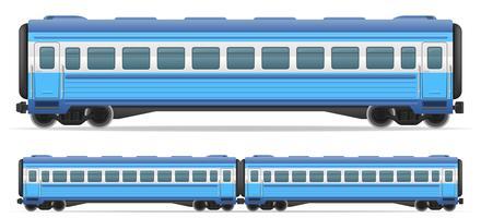 Eisenbahnwagenzug-Vektorillustration vektor
