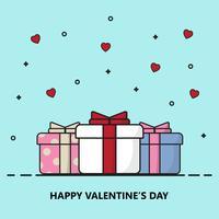 Kreative glückliche Valentinstagpostkarten-Vektorillustration.