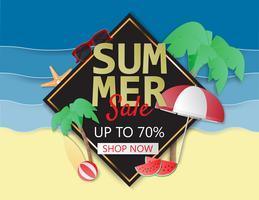 Sommerschlussverkaufhintergrundplan für Plakat, Flieger, Broschüre, Fahnen.