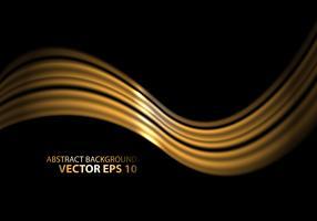 Abstrakte silberne Welle auf schwarzer Designluxushintergrund-Vektorillustration.
