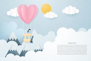 Konzept der kreativen Liebe Einladungskarte Valentinstag.