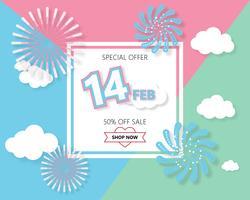 Kreativ valentines dag försäljning bakgrund. vektor