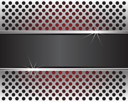 Abstrakte Metallkreise greifen Hintergrundtapete in der roten hellen und grauen Aufklebermitte für Textdesign-Vektorillustration ineinander.