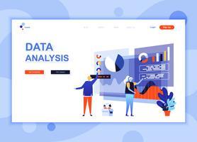 Modern platt webbdesign mall koncept för revision, dataanalys dekorerade människor karaktär för webbplats och mobil webbutveckling. Platt målsida mall. Vektor illustration.