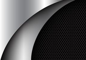 Luxushintergrund-Vektorillustration des abstrakten silbernen Kurvenformdesigns moderne. vektor