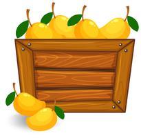 Mango auf hölzernen Banner vektor