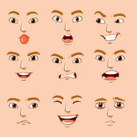 Unterschiedliche Gesichtsausdrücke des Menschen