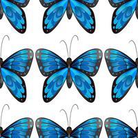 Blå fjäril sömlös mönster