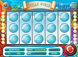 Spielvorlage mit Unterwasserhintergrund vektor