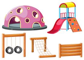 Set von Spielplatzausrüstungen