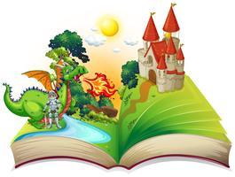 Buch des Ritters und des Drachen vektor