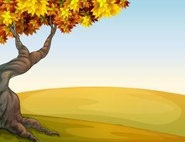 Eine Herbstlandschaft vektor