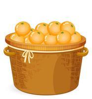 En korg med apelsin