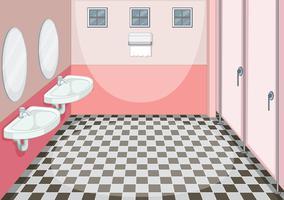 Innenarchitektur der weiblichen Toilette vektor