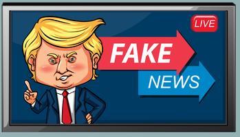 En falsk nyhet lever vektor
