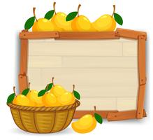 Mango auf leeren Banner vektor