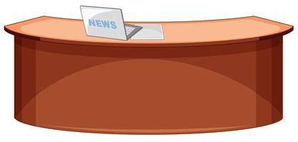 Ein leerer Zeitungsschreibtisch vektor