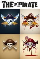Die Piratenlogoschablone vektor