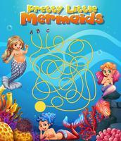 Hübsches kleines Meerjungfrau-Labyrinth-Spiel vektor