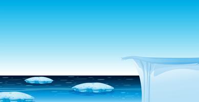 Eis im Ozeanhintergrund vektor