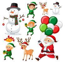 Eine Reihe von Weihnachtselement