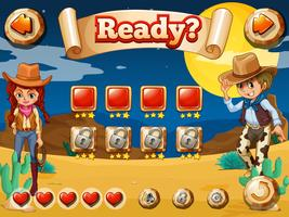 Cowboy-Spiel vektor