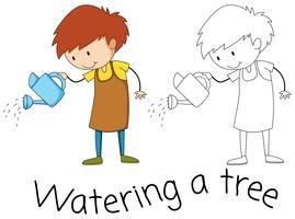 Vattendrafik grafisk stil vektor