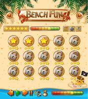 Strand Spaß Spielvorlage vektor