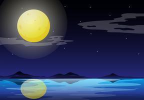 Eine Mondscheinlandschaft vektor