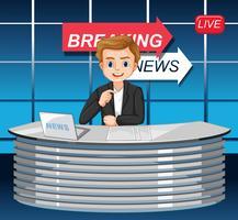 En manlig nyhetsreporter vektor