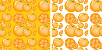 Sömlös bakgrundsdesign med apelsiner vektor